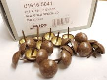 250 Old Gold Speckled 16mm upholstery nails large tacks Heico furniture studs